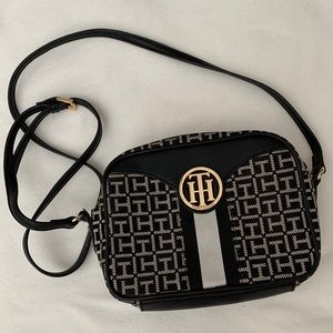 Black and with Tommy Hilfiger crossbody bag
